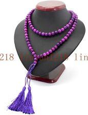 Natural 8mm Purple Sugilite Gemstone 108 Prayer Beads Mala Necklace