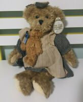 TIC TOC TEDDIES TEDDY BEAR PHILLIPA GIRL TEDDY WITH PLAID DRESS AND SMALL TEDDY