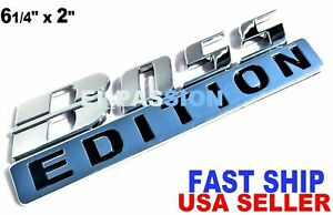 BOSS EDITION Chrome Self Adhesive Trucks Logo Side Fenders bumper CUSTOM EMBLEMS