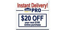 3X LowesForPros.com $20 OFF $100 Lowes for PRO-ONLINE LOWEST PRICE ON EBAY