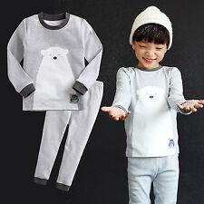 "Vaenait Baby Toddler Boy Girls Clothes Sleepwear Pyjama ""Snow Bear"" L(4-5T)"
