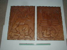 """Native SW American Indian 16"""" WOOD CARVED BOARD CARVING Navajo Zuni Bear Rattle"""