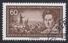 DDR 1955 MER. n. 478 XI timbrato esaminato Mayer VP Rosa Luxemburg