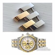 Perfect Genuine Breitling Polished Steel & Gold Link For Chronomat D13352