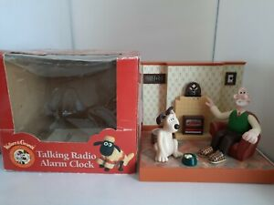 Wallace & Gromit Wesco Talking Radio Alarm Clock Boxed & Manual Not 100% Working