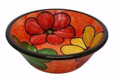 Round Deep Dish / Serving Bowl  20 cm X 7 cm Spanish Handmade Ceramic Pottery