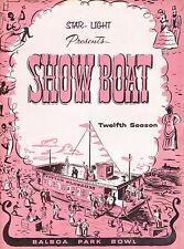 1957 Show Boat Play Program From San Diego  Balboa Park Bowl  Musical