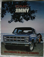 GMC JIMMY 1981 brochure sales catalog CANADIAN MARKET