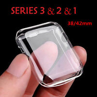 For Apple Watch iWatch Series 4 3 2 1 Screen Protector Case Cover 44/40/38/42mm