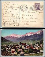 1922 ITALY Postcard - Como to Santa Barbara, California USA C5