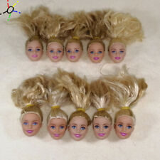 Wholesale genuine Tailings 1/6 barbie doll head 10pcs/lot yellow/golden hair