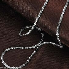 18INCH Solid 18K White Gold Necklace Special Bling Link Chain / 2.26g J.Lee