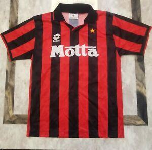Vintage AC Milan 1993/94 Home Jersey Lotto Motta S