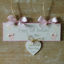 Personalised Birthday Plaque Sign 1st 13th 16th 21st 40th 50th 60th 70th Present