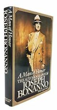 A Man of Honor: The Autobiography of Joseph Bonanno - SIGNED BY BONANNO, 1ST ED.