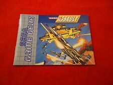 Aerial Assault Sega Game Gear Instruction Manual Booklet ONLY (pal version)