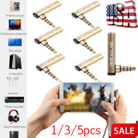1/3/5x 90° Right Angle 3.5mm Male to Female Audio Stereo Connector Adapter Jack