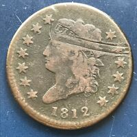 1812 Large Cent Classic Head One Cent 1c Better Grade VF Details #8749