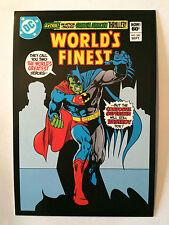 CARTE POSTALE DC COMICS WORLD'S FINEST COMICS N°283 POSTCARD BATMAN SUPERMAN
