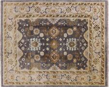 "8' 0"" X 9' 10"" Turkish Oushak Handmade Wool Area Rug - W384"