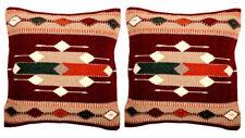 "2 Set New Southwest   Wool  Hand woven  Pillow Cover Sofa Decor 18"" x 18 ""Lot"