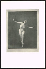 1910s Antique Vintage Nude Dance Dancer Arnold Genthe Pictorialist Photo Print
