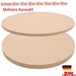Tischplatte Rund MDF Holz Platte Scheibe für Esstisch Garten mehrere Auswahl DHL