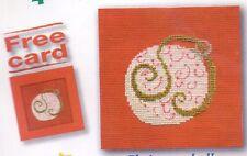 """Mini carte DMC Kit Point de Croix """"boule de noël"""""""