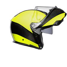 Agv Sport Modular Hi-Vis Carbono Carretera Touring Casco De Moto -