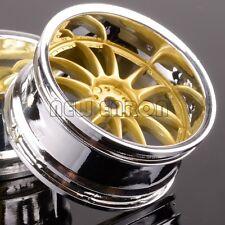 4P RC On-Road 9004 Drift Gold 12 Spoke Wheel Rim For HPI Redcat HSP Racing 1:10
