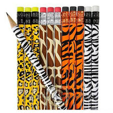 Dozen Animal Print Pencils Favor Party Gift Bag Fillers Prize Prizes Assortment