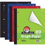 """3 Pk, Bazic 4""""/5"""" Reversible Graph Paper, 8 1/2"""" X 11"""", 80 Sheets"""