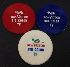 Set of 3 Vintage RCA Victor Big Color TV Business Chips FREE SHIPPING