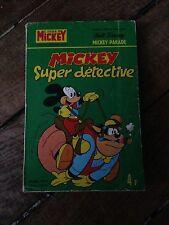 mickey super detective mickey parade 1190 bis (1975) walt disney 1ère série