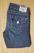 True Religion Women's Size 25 x 32  Becky Low Rise Stretch Jeans.  Made in USA
