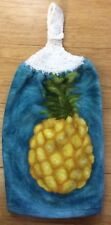 New listing Free Shipping Crochet Topped Beautiful Tropical Pineapple Terry Kitchen Towel