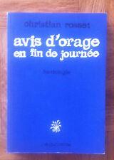 AVIS D'ORAGE EN FIN DE JOURNEE HANTOLOGIE CHRISTIAN ROSSET EO TBE   (A13)