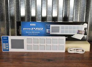 Korg nanoPad Slim-Line USB MIDI 16 Pad & X-Y Touch Controller White
