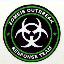 3 - Zombie Outbreak Response Team Tool Box Hard Hat Helmet Sticker Green H125