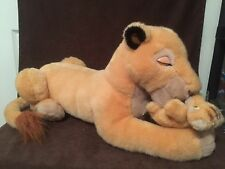 "Rare Disney Lion King Sarabi And Simba Puppet Cub 22"" Plush Stuffed Toy Lioness"