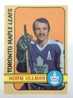 1972-73 Norm Ullman Toronto Maple Leafs 147 OPC O-Pee-Chee Hockey Card P184