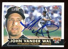 2001 Fleer Tradition Baseball Card #209 John Vander Wal Autographed NRMT