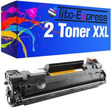 2 TONER PER HP LASERJET p1002 W PRO p1102 W m1132 MFP m1212 NF MFP ce285a 85a