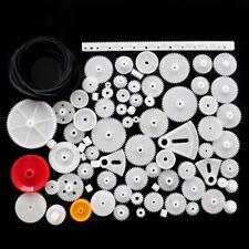81pcs Plastic Gear Wheel Assorted Kit For Toy Car Motor Shaft Model Crafts US