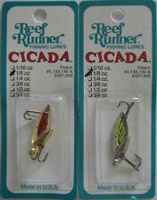 2 - Reef Runner  CICADA - 1/8 oz. - Gold/Orange & Nickel/Chartreuse