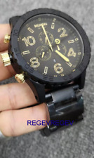 Nixon  New Watch  A0831041 51-30 Men's Chrono MATTE BLACK GOLD A083-1041 .