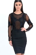 BRAND NEW Forever Unique Women's Talisa Lace Embroidered Dress - Black (Small)