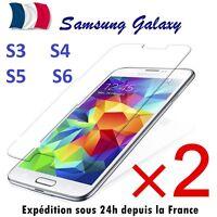 2 x Verre Trempé Film de protection d'écran pour Samsung  S5