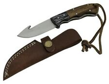 7 inch Red Deer Wood Handle Hunting Fixed Blade Gut Hook Knife RD-109