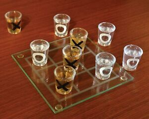 Ideas In Life Shot Glass Tic Tac Toe Game Portable Three In A Row Drinking Game
